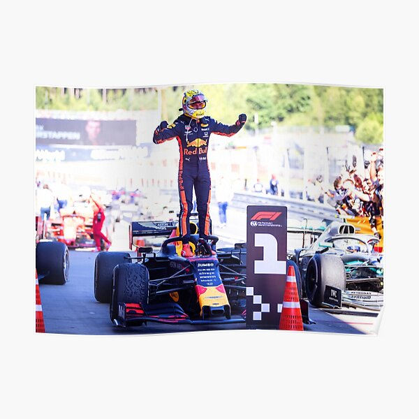 Max Verstappen celebrating his victory 2 Poster