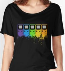 Gameboy Rainbow Tee Women's Relaxed Fit T-Shirt