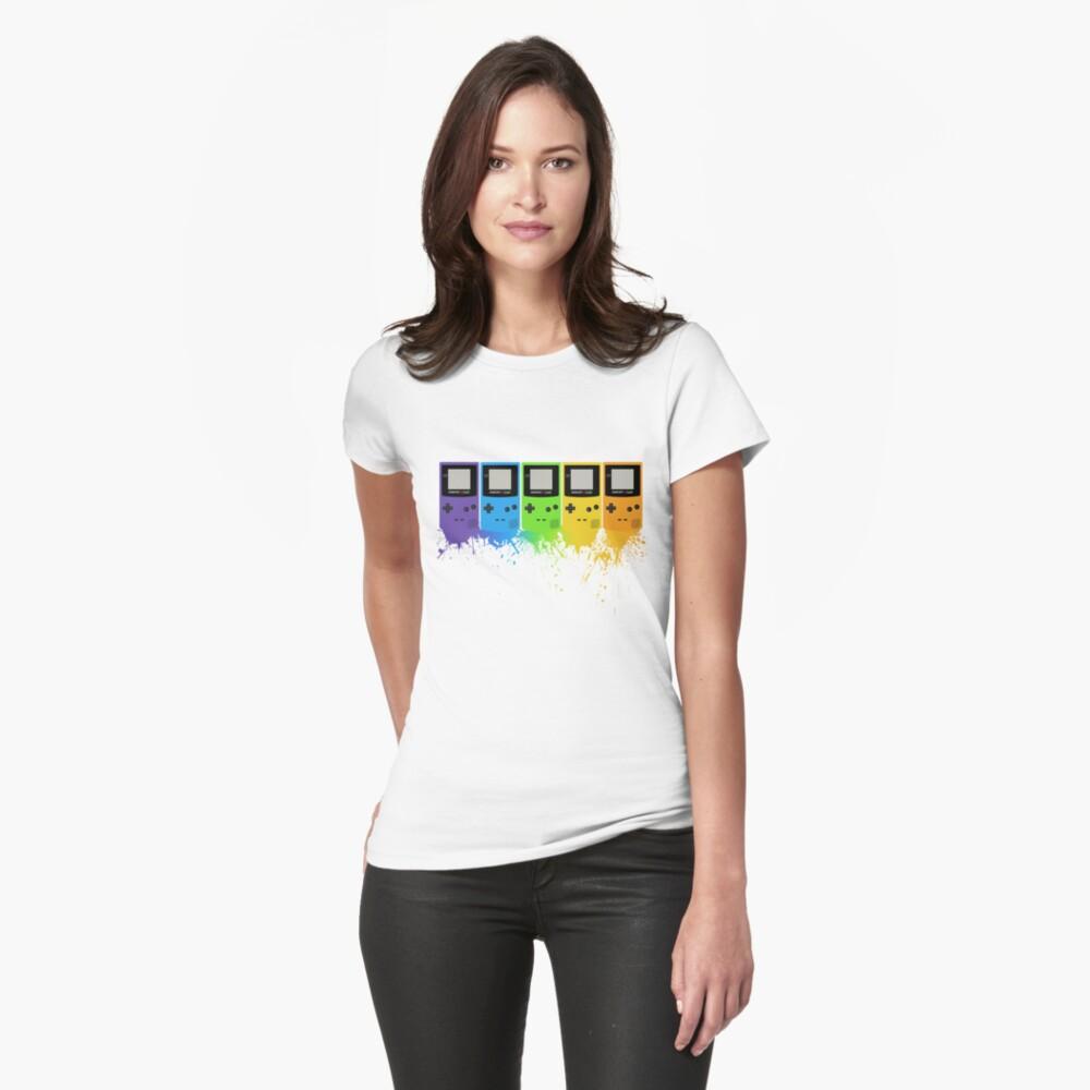 Gameboy Rainbow Tee Womens T-Shirt Front