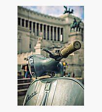 Vespa at the Il Vittoriano monument - Rome, Italy  Photographic Print