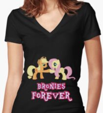 Bronies Forever (No Heart) 6 Women's Fitted V-Neck T-Shirt