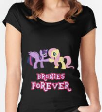 Bronies Forever (No Heart) 13 Women's Fitted Scoop T-Shirt
