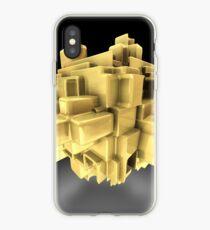 Vinilo o funda para iPhone Gold abstract
