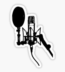Microphone on Stand Sticker