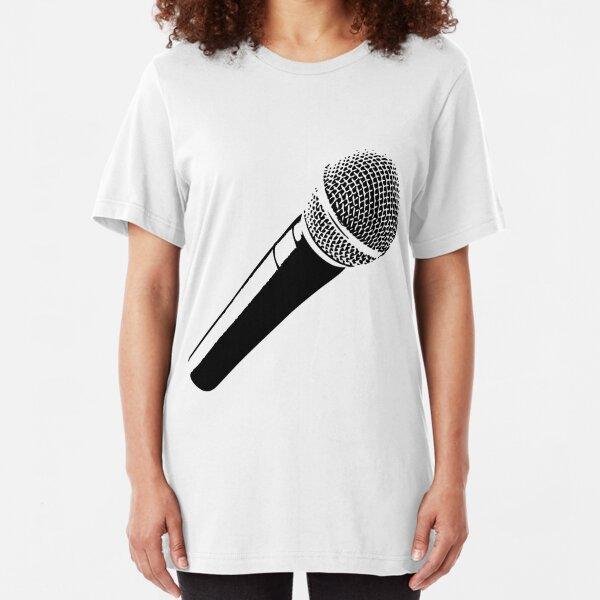 Clean microphone Slim Fit T-Shirt