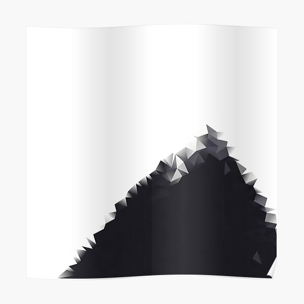 Polygon Black and White Poster