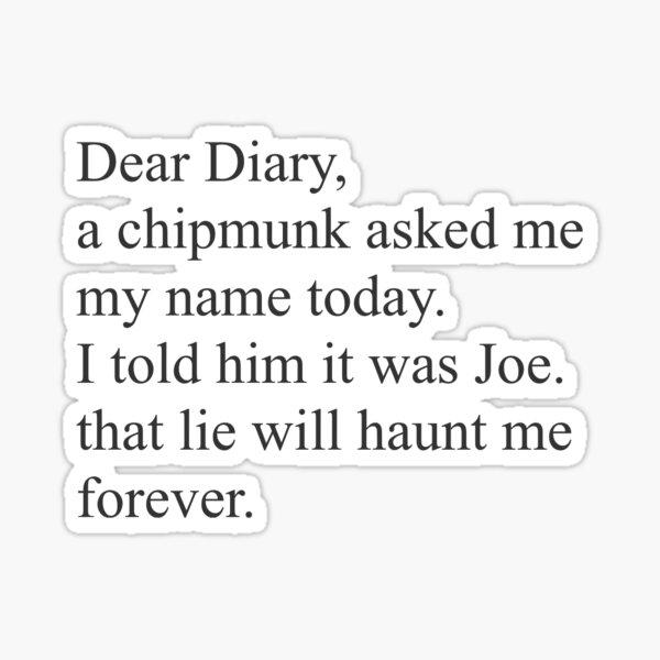 Querido diario Pegatina