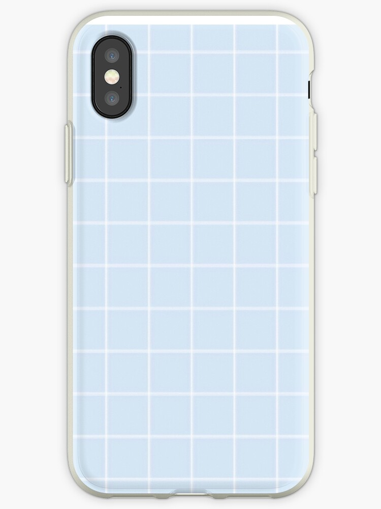 blue grid phone case by afirelob