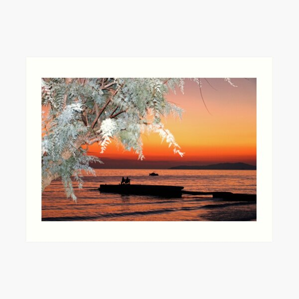 Arillas Sunset, Corfu, Greece Art Print