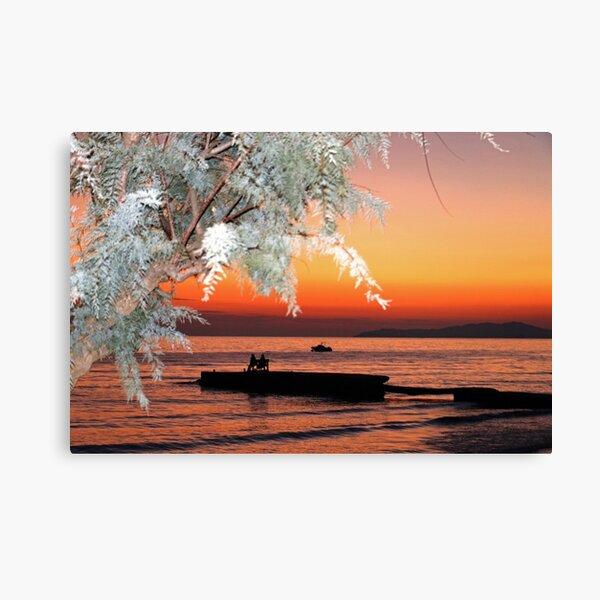 Arillas Sunset, Corfu, Greece Canvas Print
