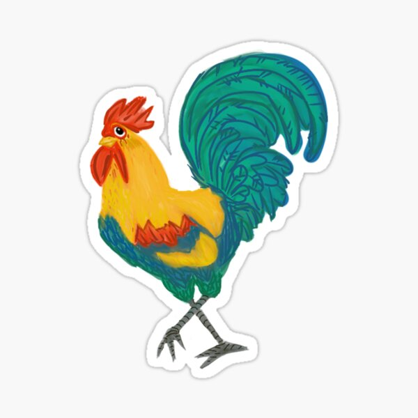 Colorful Rooster Sticker