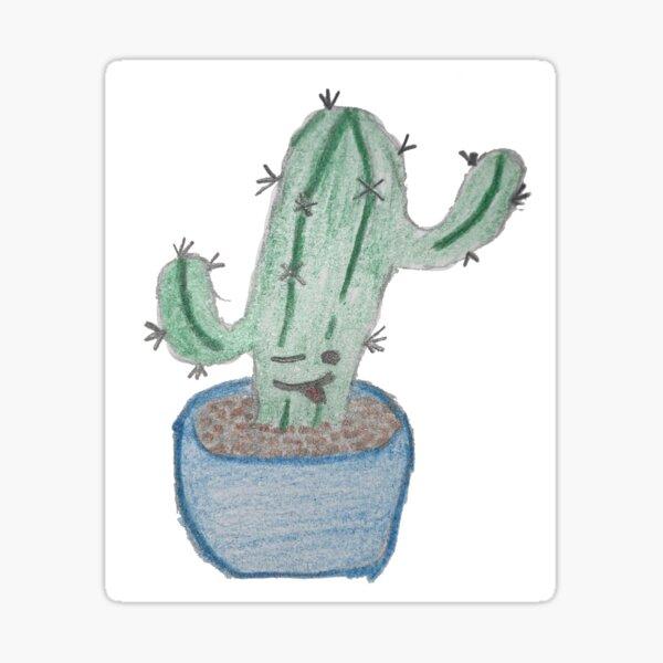 Winky Cacti Sticker