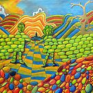 405 - THE WALL OF FRIENDSHIP - I - DAVE EDWARDS - COLOURED PENCILS & FINELINERS - 2014 by BLYTHART