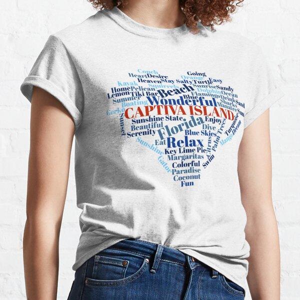 Wordcloud Captiva Island Classic T-Shirt