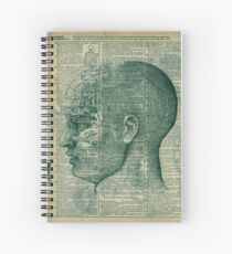 Phrenology Head Spiral Notebook