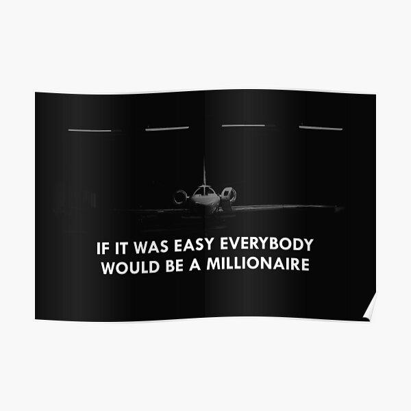 Si c'était une affiche de motivation facile Poster