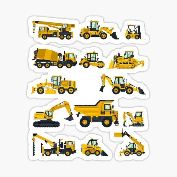 Construction Equipment for Men, Women, Boys and Girls Sticker