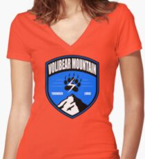 Volibear Mountain Crest Women's Fitted V-Neck T-Shirt