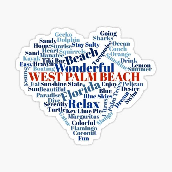 Wordcloud West Palm Beach Sticker