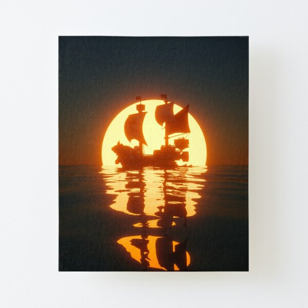 Thousand Sunny Canvas Mounted Print