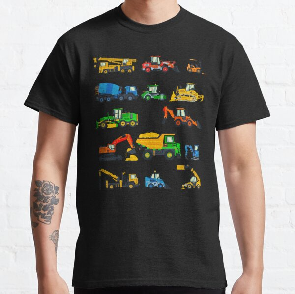 Construction Equipment for Men, Women, Boys and Girls in Primary Colors Classic T-Shirt