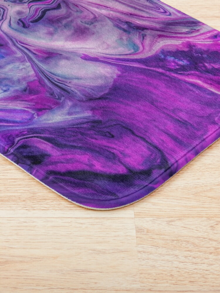 Alternate view of Purple Psychedelic Bath Mat