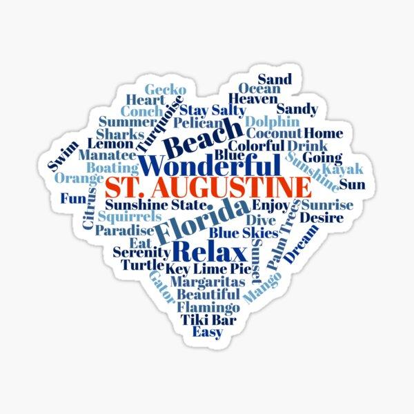 Wordcloud St. Augustine Sticker
