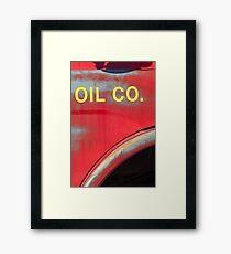 oil Framed Print