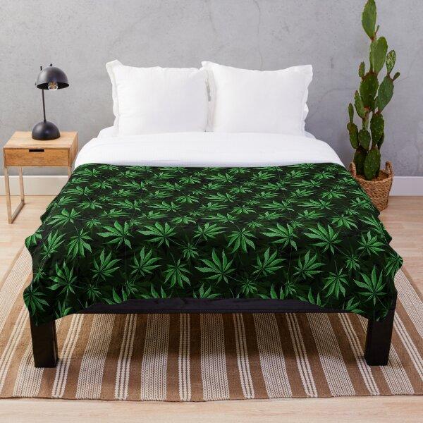 Cannabis Leaf Throw Blanket