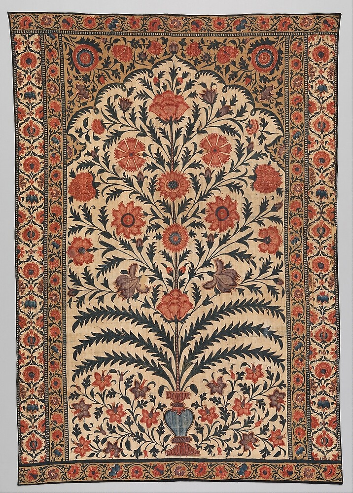 Vintage Panel from a Tent Lining, India 1725–50 by Douglas E.  Welch