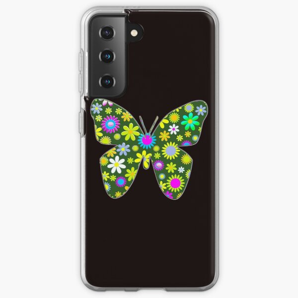 pastel floral folk art motif  Samsung Galaxy Soft Case