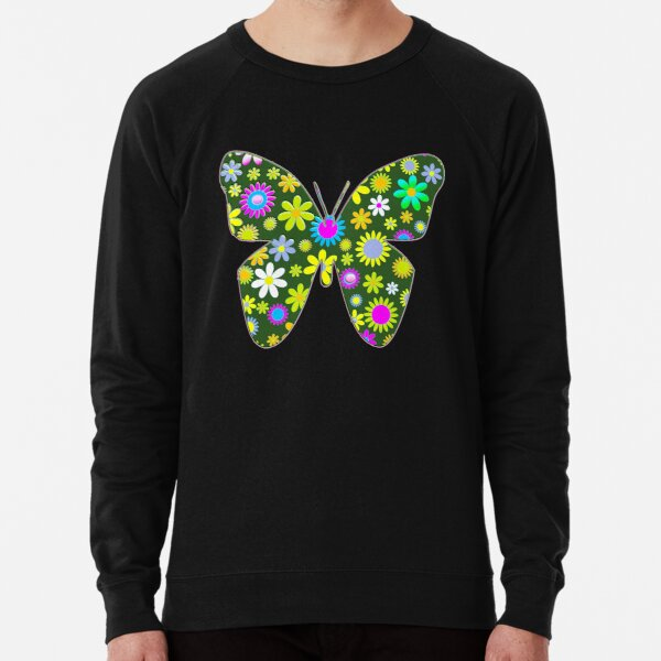 pastel floral folk art motif  Lightweight Sweatshirt
