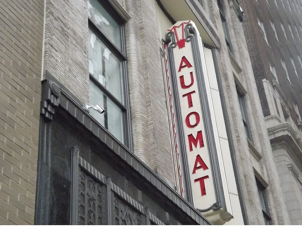 Vintage Automat Sign, Chestnut Street, Philadelphia, Pennsylvania  by lenspiro
