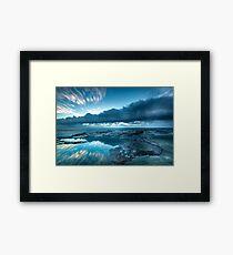An Ocean Crater Framed Print