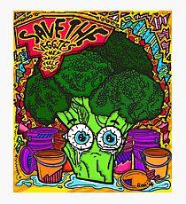 Save The Veggies - Broccoli Photographic Print