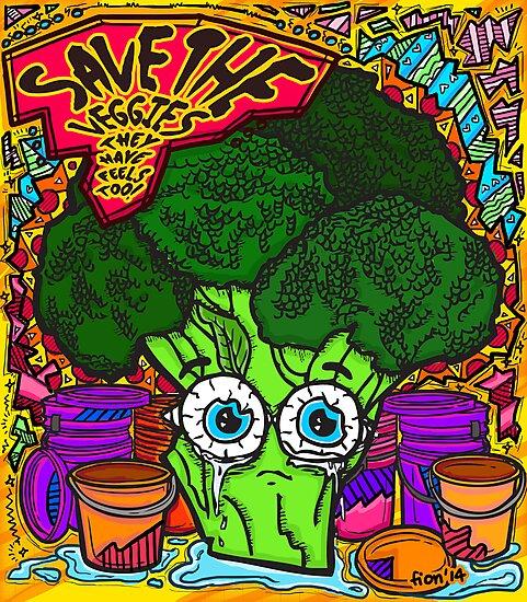 Save The Veggies - Broccoli by fionfairyland
