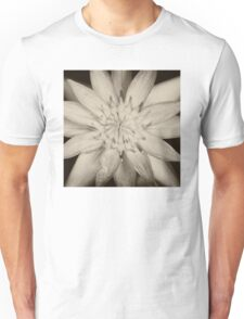 Black and White Waterlily   Unisex T-Shirt