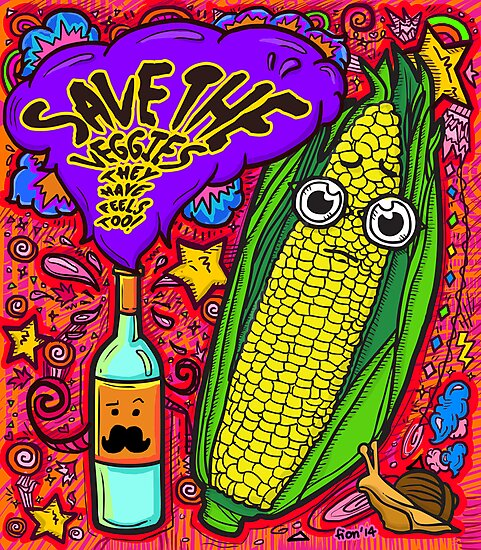 Save The Veggies - Corn by fionfairyland