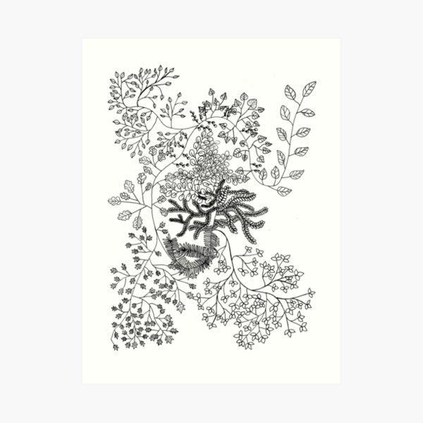 Tangle of Leaves Art Print