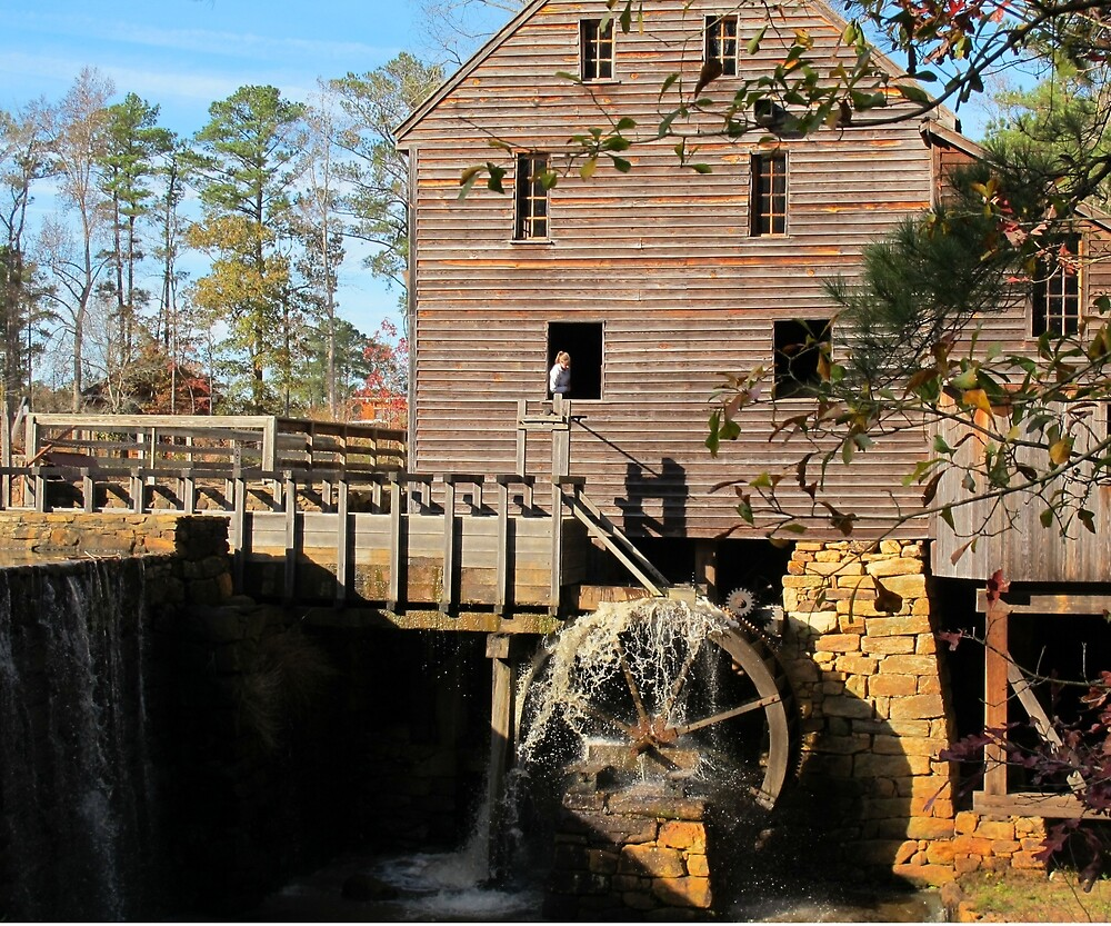 Starting the wheel at Yates Mill by Robert Angier