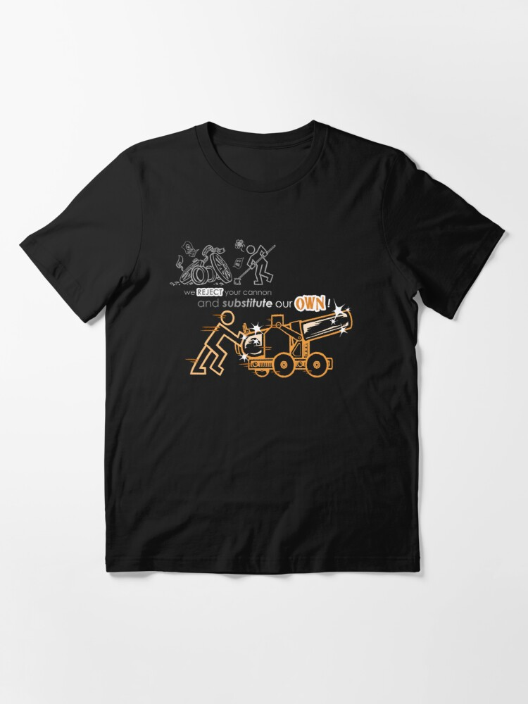 Alternate view of We Reject Your Cannon (Orange Version) Essential T-Shirt