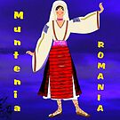 A  Muntenia Romanian Female Old Fashioned Peasant Costume by Dennis Melling