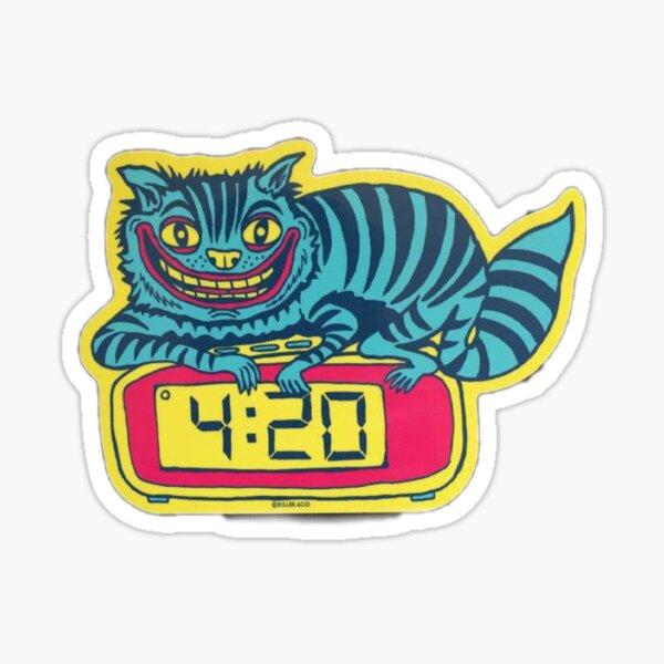 The demon cat Sticker