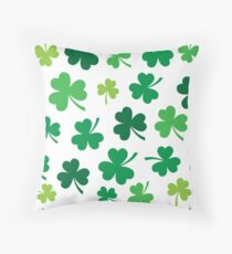 Irish Shamrocks All Over Throw Pillow