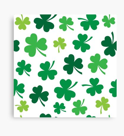 Irish Shamrocks All Over Canvas Print