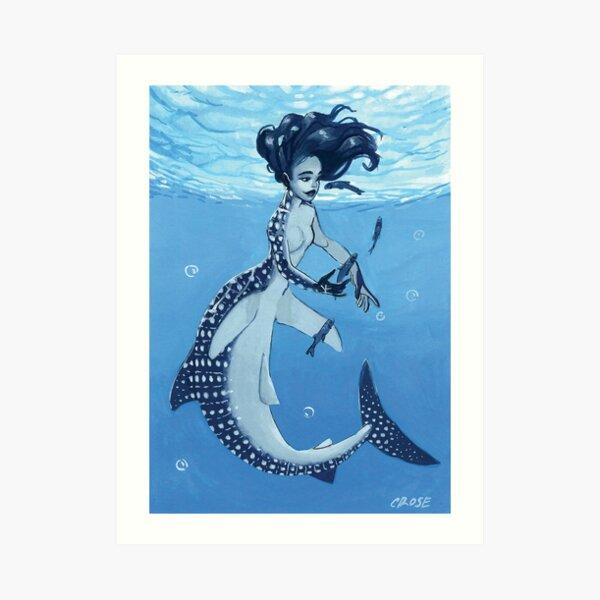 Pisces Mermaid Art Print