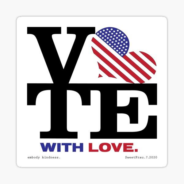 VOTE with LOVE ll Sticker