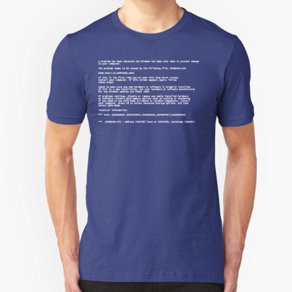 Blue Screen of Death Slim Fit T-Shirt