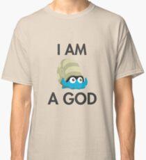 Twitch Plays Pokemon: I Am A God - Light with Dark Text Classic T-Shirt