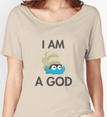 Twitch Plays Pokemon: I Am A God - Light with Dark Text Women's Relaxed Fit T-Shirt
